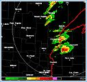 Tornadaic Supercell thunderstorm with classic hook signature in Wisconsin
