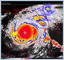 Infrared Satellite Imagery of Hurricane Katrina